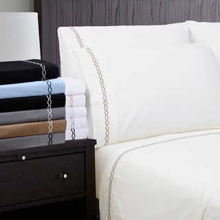 Wrinkle Resistant Embroidered Cloud 6-piece Sheet Sets