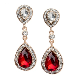 Alexa Starr Double Teardrop Crystal Earrings