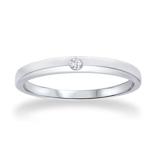 Bliss 14k White Gold 0.35 CT Solitaire Diamond Promise Ring (G-H, I1-I2)