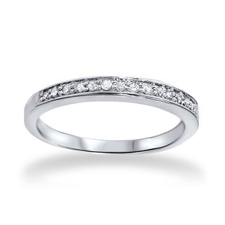 Bliss 14k White Gold 1/5 CT TDW Diamond Wedding Ring (H-I, I2-I3)