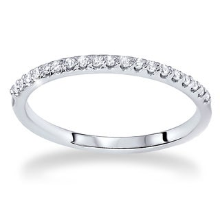 Bliss 14k White Gold 1/5ct TDW Diamond Wedding Ring (G-H, SI2-I1)