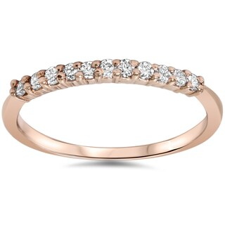 14k Rose Gold 1/4ct TDW Diamond Wedding Band (H-I, I2-I3)