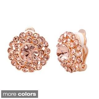 Alexa Starr Crystal Pave Clip Earrings