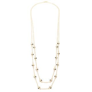 Alexa Starr Gold and Crystal Single or Double-row Necklace
