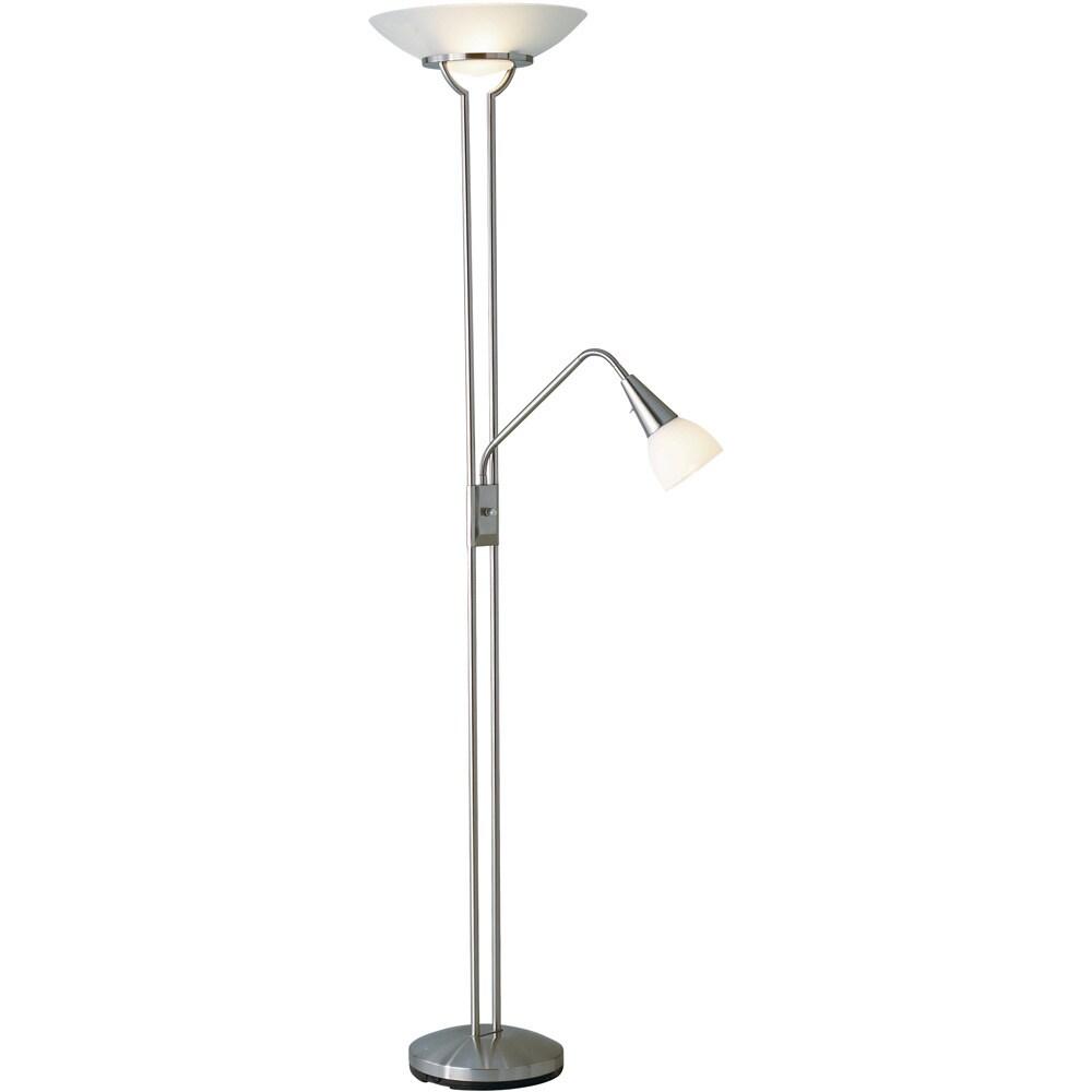 Adesso Cupola 3-light Steel Floor Lamp with Gooseneck Arm