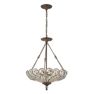 Christina Clear Crystal 5-light Mocha Hanging Pendant Light