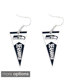 NFL Football Team Logo Pennant Dangle Earring Charm