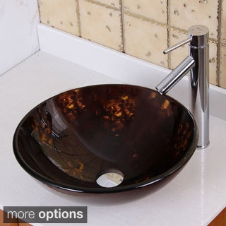Elite Fire Cloud Style Glass Bathroom Vessel Sink