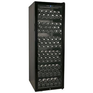 EdgeStar 173-Bottle Glass Door Black Wine Cabinet