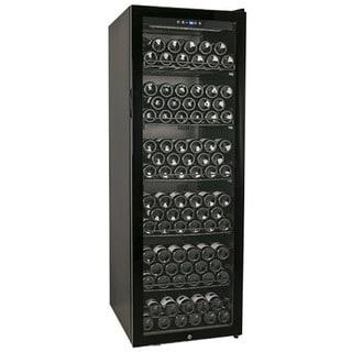 EdgeStar 173-Bottle Glass Door Black Wine Cabinet