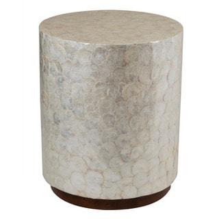 Decorative Off-White Elegant Sleek Round End Table