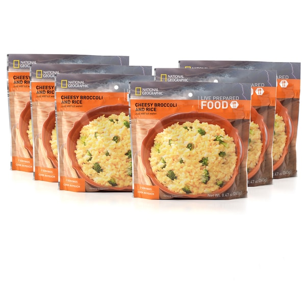 National Geographic Live Prepared Cheesy Broccoli Rice (Set of 6)