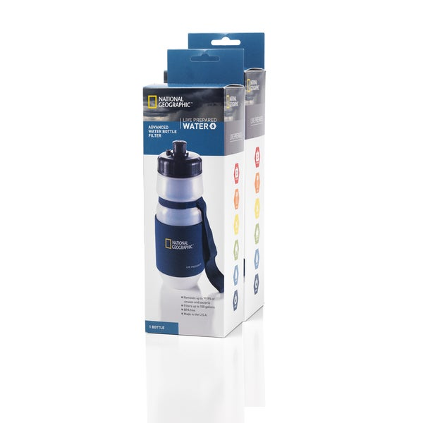 National Geographic Live Prepared Water Filtration Bottle (Set of 2)