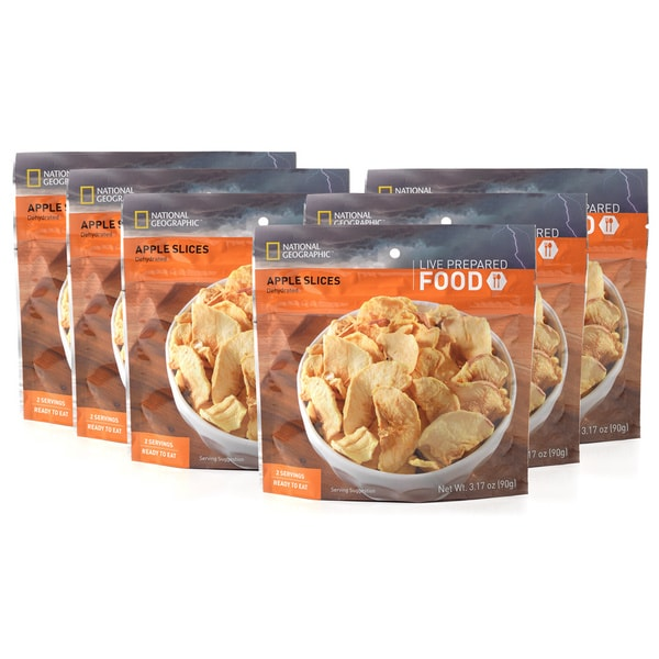 National Geographic Live Prepared Apple Slices (Pack of 6)