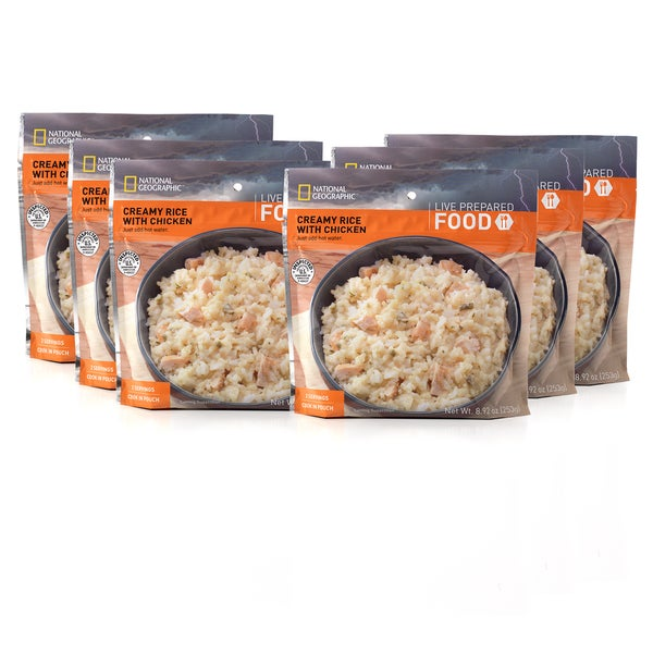 National Geographic Live Prepared Creamy Rice with Chicken (Set of 6)