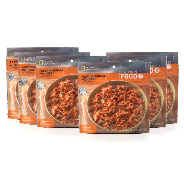 National Geographic Live Prepared Pasta Marinara with Beef (Set of 6)