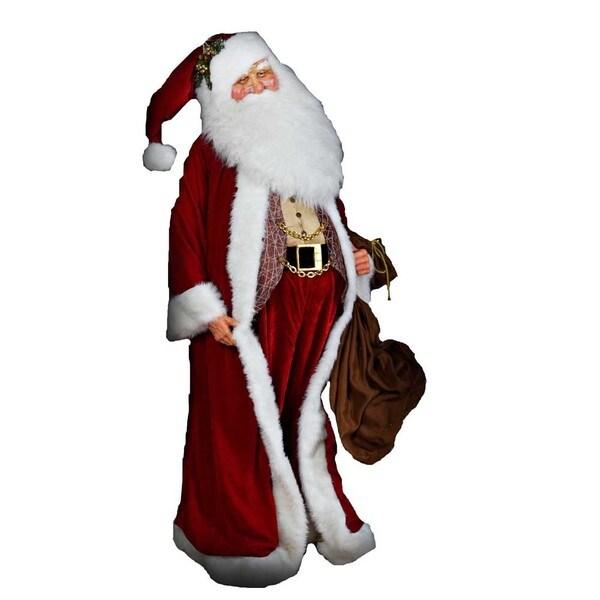 Kurt Adler 80-inch Jacqueline Kent Elegant Red Santa
