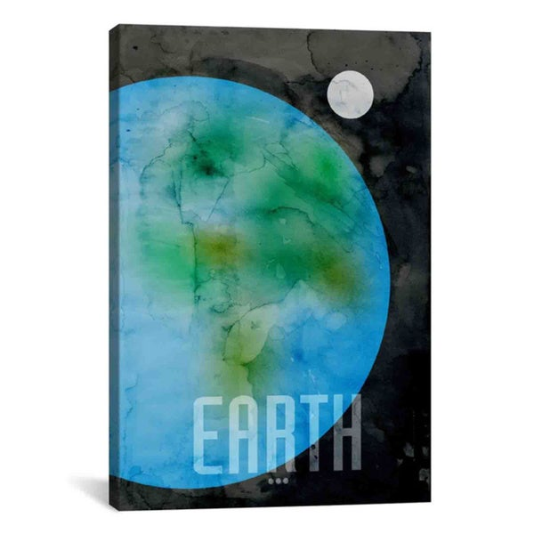 iCanvas Michael Thompsett The Planet Earth Canvas Print Wall Art