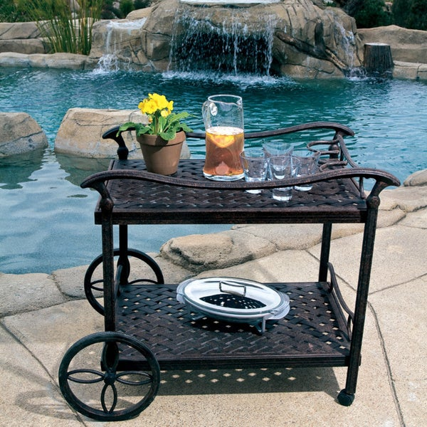 Elegant Outdoor Tea Serving Cart