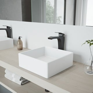 VIGO Blackstonian Bathroom Vessel Faucet in Matte Black