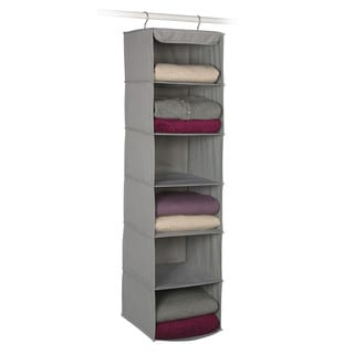 Richards Homewares Dove Grey 6-shelf Storage Organizer