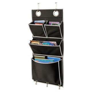 Richards Homewares Gearbox Over-the-Door Magazine Organizer