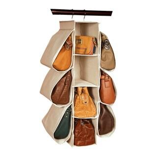 Richards Homewares Natural Canvas Hanging Handbag Organizer
