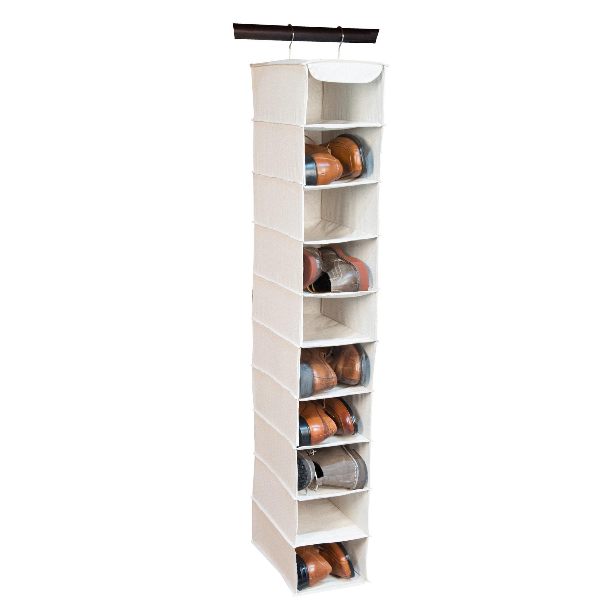 Richards Homewares Nature of Storage Canvas 10-shelf Men's Shoe Organizer