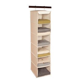 Richards Homewares Nature of Storage Canvas Natural 6-shelf Sweater Organizer