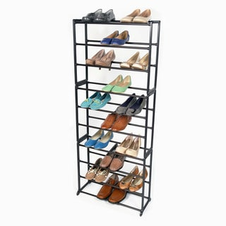 Richards Homewares 30-pair Standing Bronze Shoe Rack