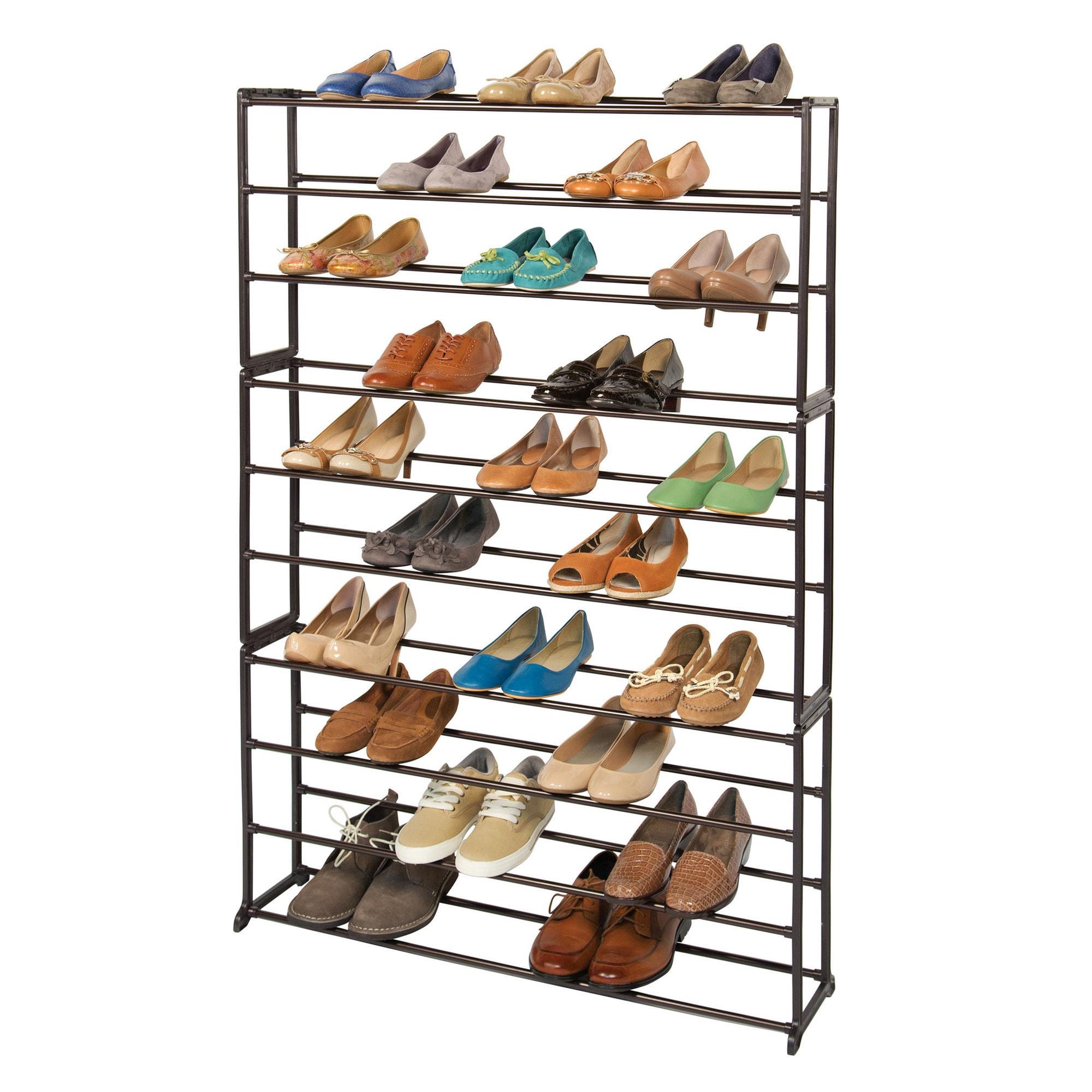 Richards Homewares 50-pair Standing Bronze Shoe Rack at Sears.com