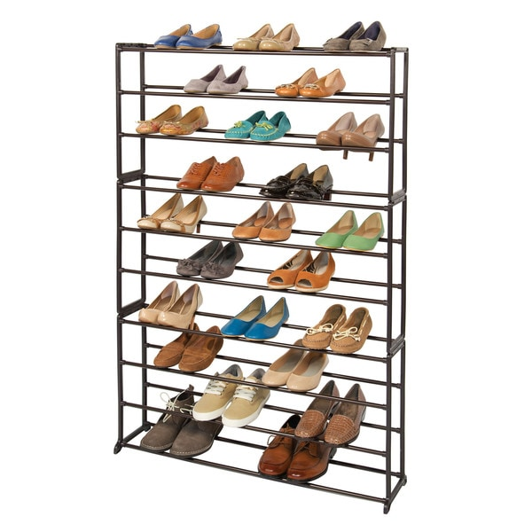 Richards Homewares 50-pair Standing Bronze Shoe Rack 14164855