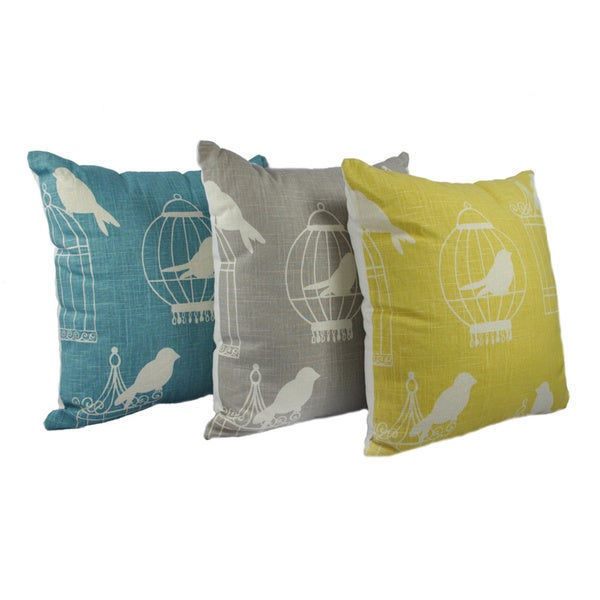 Austin Horn Classics 'Bird in a Cage' 20-inch Decorative Throw Pillow