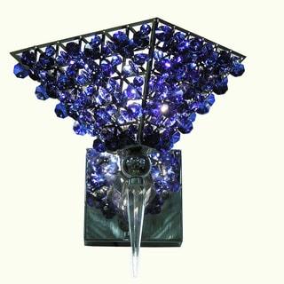 Hades Triangular Blue Crystal Wall Lamp
