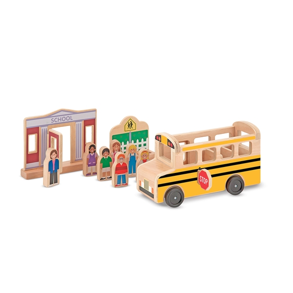 Melissa & Doug Whittle World School Bus Set
