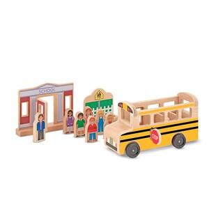 Melissa & Doug Whittle World School Bus Set