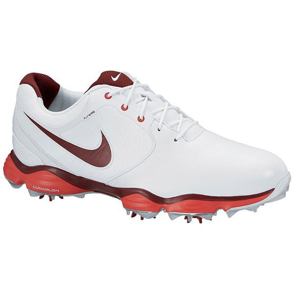 Nike Mens Lunar Control Ii Golf Shoes 7 Us Medium White/Red