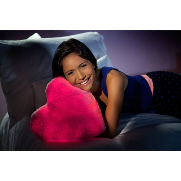 As Seen On TV Bright Light Pillow, Pink Beating Heart
