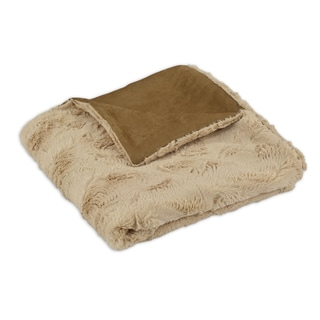 Luxe Camel 50x60-inch Throw Blanket