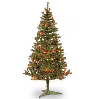6-foot Canadian Fir Grande Wrapped Tree with 200 Multicolor Lights