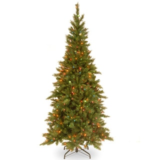 7.5-foot Tiffany Slim Fir Hinged Tree with 550 Multi Lights