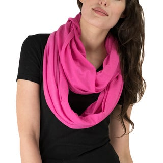 Le Nom Solid Soft Touch Infinity Scarf