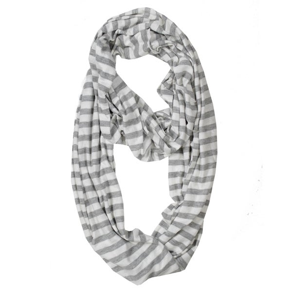 Le Nom Cape May Stripe Infinity Scarf