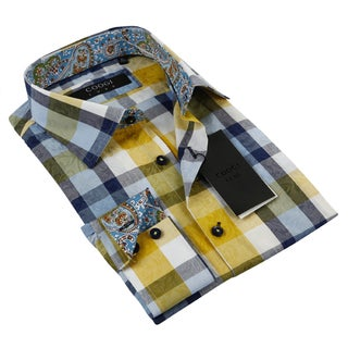 Coogi Luxe Men's Multi-colored Button Down Dress Shirt