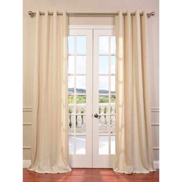 Lanai Veranda Natural Linen Blend Stripe Curtain