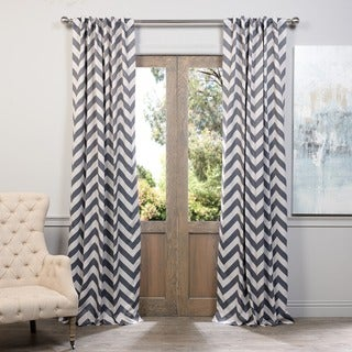EFF Fez Grey/ Tan Blackout Curtain Panel
