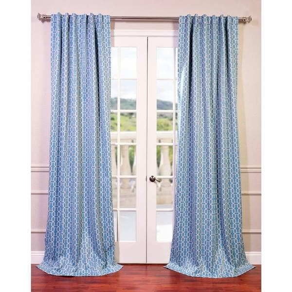 eff fret sky blue teal blackout curtain panel