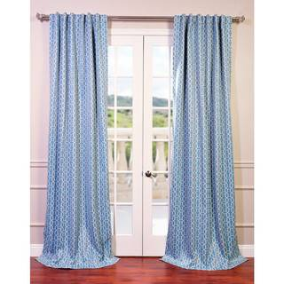 EFF Fret Sky Blue/ Teal Blackout Curtain Panel