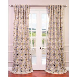 EFF Soliel Yellow/ Grey Damask Blackout Curtain Panel