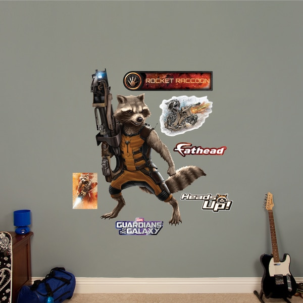 Fathead Guardians of the Galaxy Rocket Raccoon Wall Decals